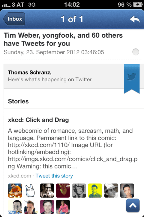Twitter: Stories for you