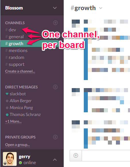 Slack Channels per Board