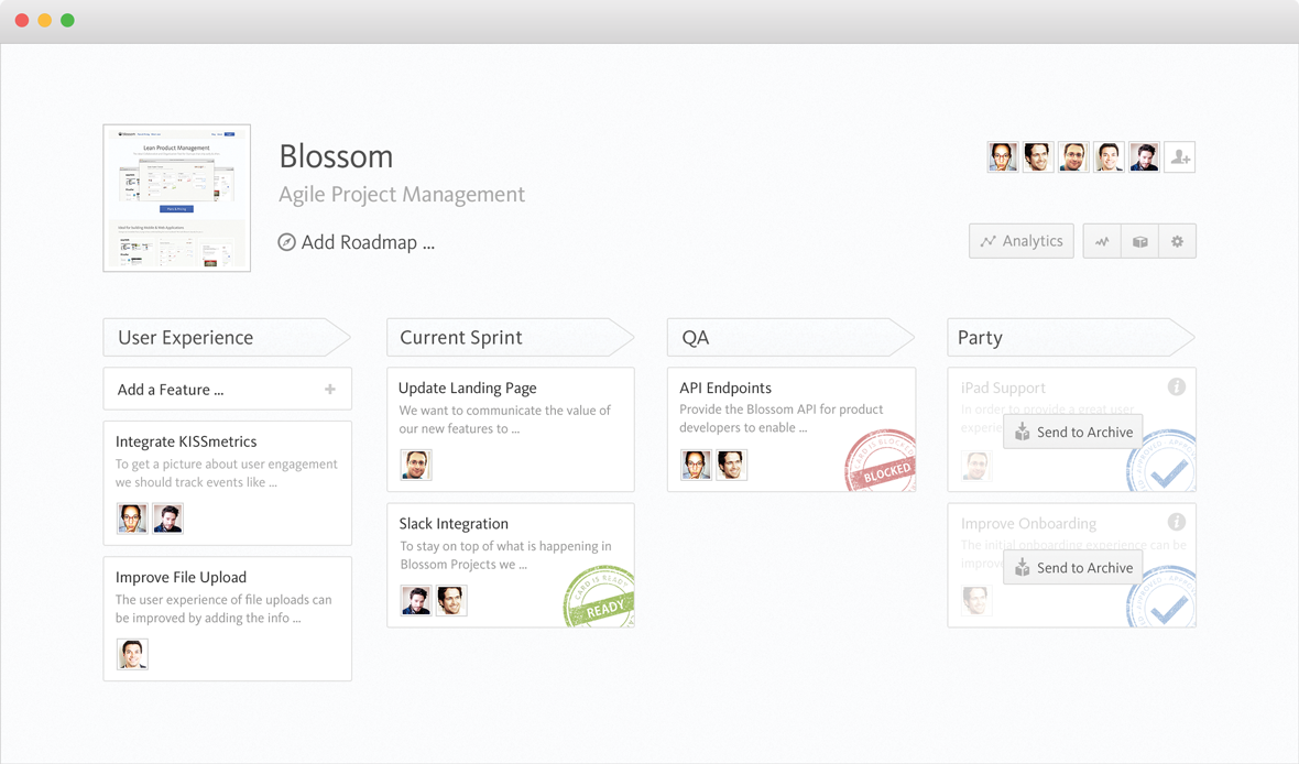 Blossom SCRUM Workflow